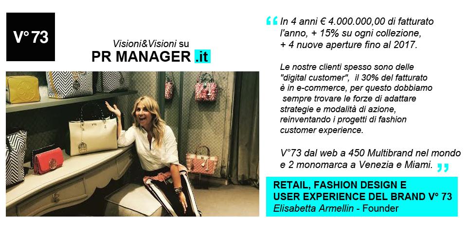 V73- Elisabetta Armellin si racconta su PR Manager